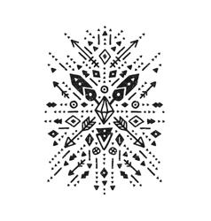 Hand drawn tribal art vector