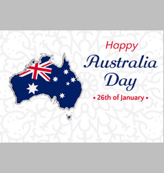 happy australia day background or greeting card vector image