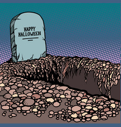 happy halloween grave vector image