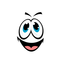 Innocent smiley with open mouth isolated vector