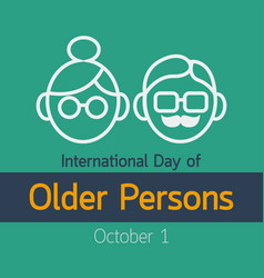 International day older persons icon vector