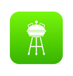 kettle barbecue icon digital green vector image