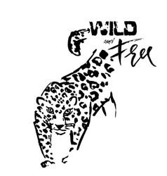 leopard grunge print of wild vector image