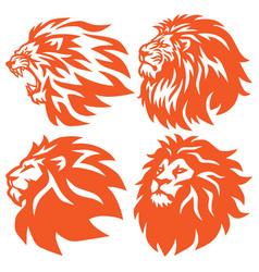 Lion head logo set collection ultimate collection vector