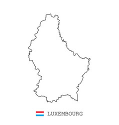 luxembourg map line linear thin vector image