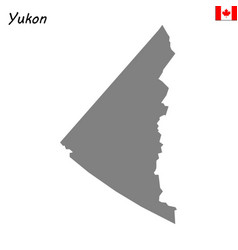 Map province of canada vector