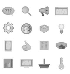 Marketing icons set monochrome style vector image