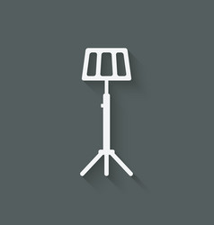 music stand symbol vector image