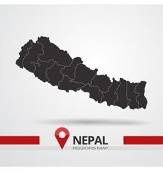 Nepal map vector