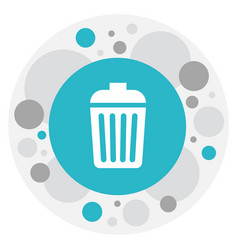 of cleaning symbol on garbage vector image