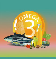 Omega 3 polyunsaturated fatty acids vector