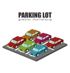parking lot design vector image