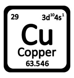 Periodic table element copper icon vector image