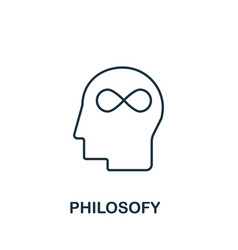 Philosofy icon from science collection simple vector