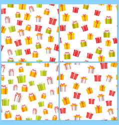 pictograph gift boxes picture collection on white vector image