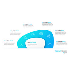 pie chart infographic template in form vector image