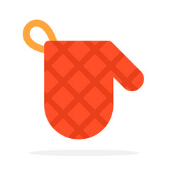 Potholder for hot dishes flat isolated vector