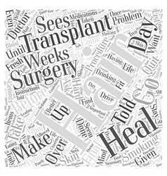 Preparing for Hair Transplant Surgery Word Cloud vector