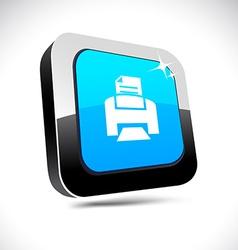 Print 3d square button vector