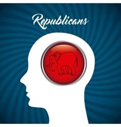 republican party design vector image