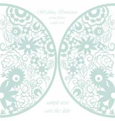Round invitation card with floral ornaments vector