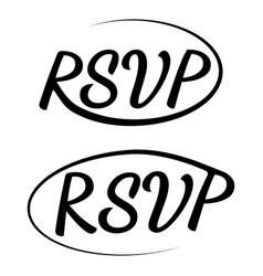 rsvp icon wedding invitation card template vector image
