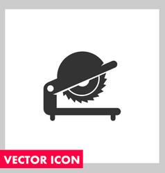 Saw black icon vector