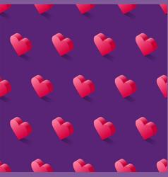 seamless isometric pattern geometric flat pink vector image