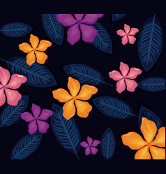seamless pattern tropical flower background vector image