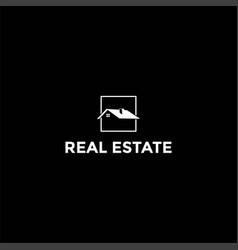 simple minimalist real estate logo design vector image