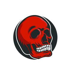 Skull monocrome head charactre vector