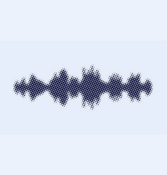 sound wave equalizer abstract monochrome vector image