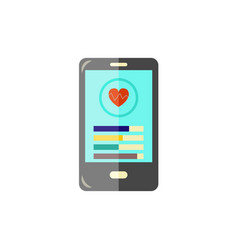 sport and healthcare mobile app at smartphone vector image
