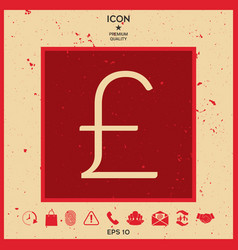 sterling symbol icon vector image