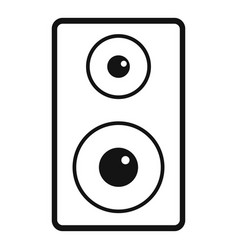 Subwoofer icon simple style vector