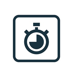Timer icon Rounded squares button vector