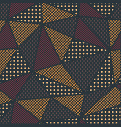 triangle pattern with cloth effect vector image