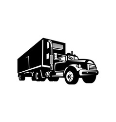 Truck with container van trailer vector