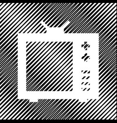 Tv sign icon hole in moire vector