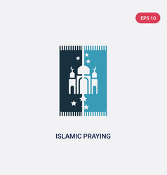 two color islamic praying carpet icon from vector image