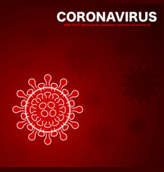 virus full bacterium red background vector image