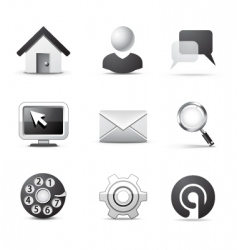 web icons bw series vector image