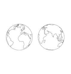 World planet Earth globe outline icon vector