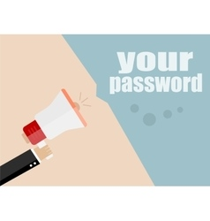 Your password flat design business vector