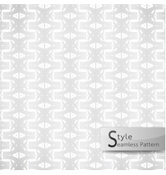 abstract seamless pattern flower row ribbon vector image vector image
