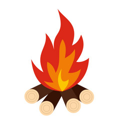 bonfire icon isolated vector image vector image