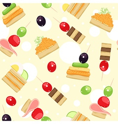 canapes vector image