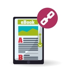 eBook design reading icon White background vector image