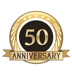 Fifty Year Anniversary Badge vector image vector image