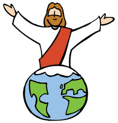 jesus and the world vector image